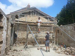 Rénovation mur en pierre - Machecoul 2016